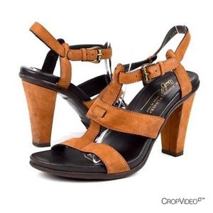 Donald J Pliner brown leather heels